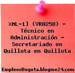 XML-1] (VRA258) – Técnico en Administración – Secretariado en Quillota en Quillota