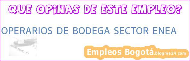 OPERARIOS DE BODEGA SECTOR ENEA