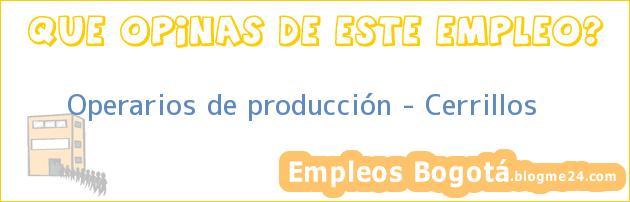 Operarios de Producción, Cerrillos