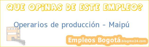 Operarios de Producción/ Maipu