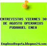 ENTREVISTAS VIERNES 30 DE AGOSTO OPERARIOS PUDAHUEL ENEA