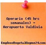 Operario (45 hrs semanales) – Aeropuerto Valdivia