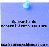 Operario de Mantenimiento COPIAPO