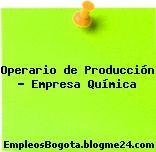 Operario de Producción – Empresa Química