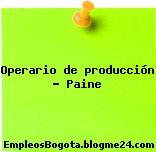 Operario de producción – Paine