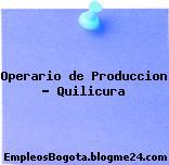 Operario de producción – quilicura