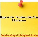 Operario Producción/la Cisterna