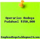 Operarios Bodega Pudahuel $350.000