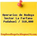 Operarios de Bodega Sector La Farfana Pudahuel / 310.000