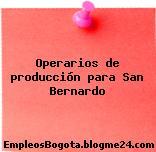Operarios de producción para San Bernardo