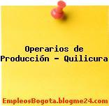 Operarios de produccion – Quilicura