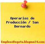 Operarios de producción – San Bernardo