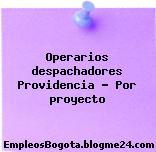 Operarios despachadores Providencia – Por proyecto