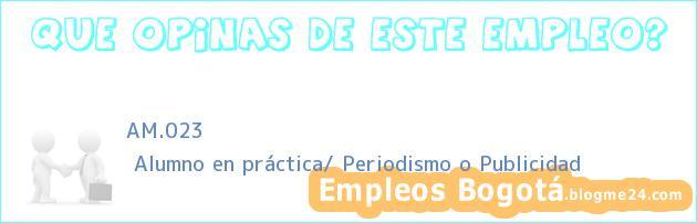 AM.023   Alumno en práctica/ Periodismo o Publicidad