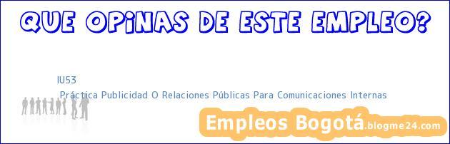 IU53   Práctica Publicidad O Relaciones Públicas Para Comunicaciones Internas