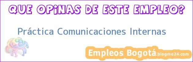 Práctica Comunicaciones Internas
