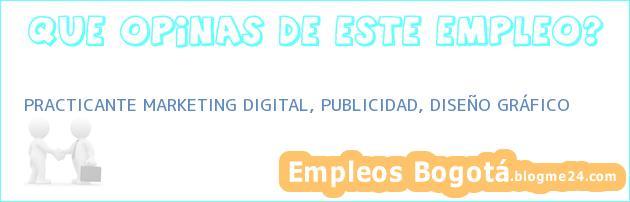 PRACTICANTE MARKETING DIGITAL, PUBLICIDAD, DISEÑO GRÁFICO