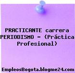 PRACTICANTE carrera PERIODISMO – (Práctica Profesional)