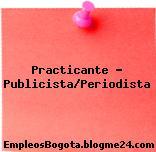 Practicante – Publicista/Periodista
