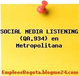 SOCIAL MEDIA LISTENING (QA.934) en Metropolitana
