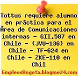 Tottus requiere alumno en práctica para el Área de Comunicaciones internas – GII.587 en Chile – (JVU-136) en Chile – TF-624 en Chile – ZKE-110 en Chil