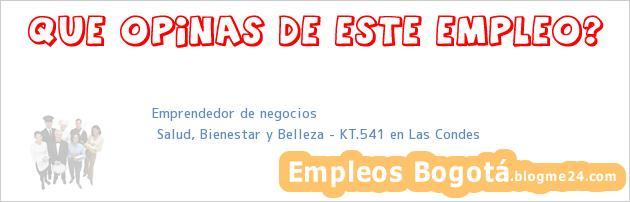 Emprendedor de negocios | Salud, Bienestar y Belleza – KT.541 en Las Condes