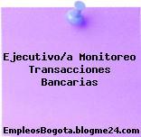 Ejecutivo/a Monitoreo Transacciones Bancarias