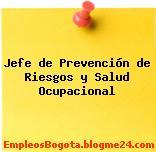 Jefe de Prevención de Riesgos y Salud Ocupacional