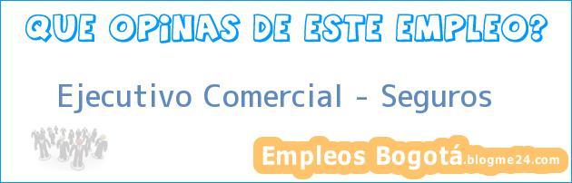 Ejecutivo Comercial – Seguros