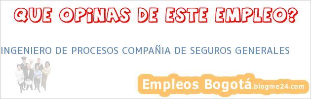 INGENIERO DE PROCESOS COMPAÑIA DE SEGUROS GENERALES