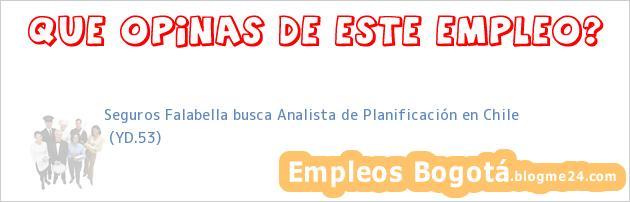 Seguros Falabella busca Analista de Planificación en Chile | (YD.53)
