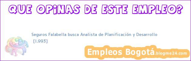 Seguros Falabella busca Analista de Planificación y Desarrollo | [I.993]