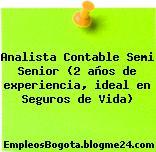 Analista Contable Semi Senior (2 años de experiencia, ideal en Seguros de Vida)