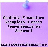 Analista Financiero Reemplazo 3 meses (experiencia en Seguros)