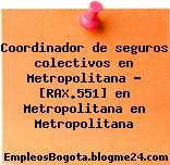 Coordinador de seguros colectivos en Metropolitana – [RAX.551] en Metropolitana en Metropolitana