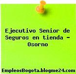 Ejecutivo Senior de Seguros en tienda – Osorno