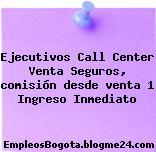 Ejecutivos Call Center Venta Seguros, comisión desde venta 1 Ingreso Inmediato