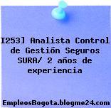I253] Analista Control de Gestión Seguros SURA/ 2 años de experiencia