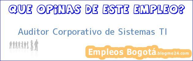 Auditor Corporativo de Sistemas TI