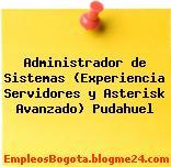 Administrador de Sistemas (Experiencia Servidores y Asterisk Avanzado) Pudahuel