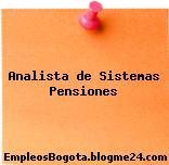 Analista de Sistemas Pensiones