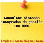 Consultor sistemas integrados de gestión iso 9001