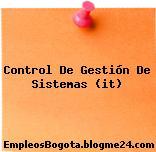 Control de gestión de sistemas (IT)