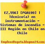EZ.556] [PGA199] | Técnico(a) en instrumentación – Sistemas de incendio – III Región en Chile en Chile