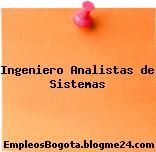 Ingeniero Analistas de Sistemas