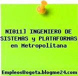 NI011] INGENIERO DE SISTEMAS y PLATAFORMAS en Metropolitana