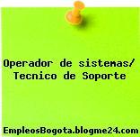 Operador de sistemas/ Tecnico de Soporte