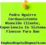 Pedro Aguirre Cerdaasistente Atención Cliente. Experiencia En Sistema Finesse Para Ban