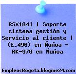 RSX184]   Soporte sistema gestión y Servicio al cliente   (E.496) en Ñuñoa – RK-970 en Ñuñoa