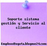 Soporte sistema gestión y Servicio al cliente